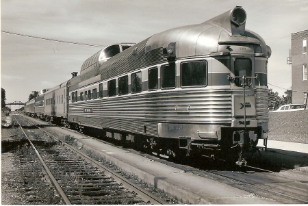 Dome-lounge Silver Vista was built by the Budd Company in 1947 for the Chicago, Burlington & Quincy. It was one of a number of observation cars assigned to the Abraham Lincoln in the 1970s. No. 9301, which Amtrak retired in 1976, is shown at Bloomington, Illinois, on June 29, 1973. (Photograph by Dwight Long)