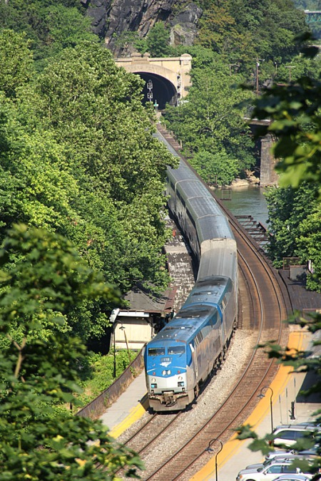 The Capitol Limited, shown at Harpers Ferry, W.Va., in June 2012, will host a trial run of carrying unboxed bicycles.