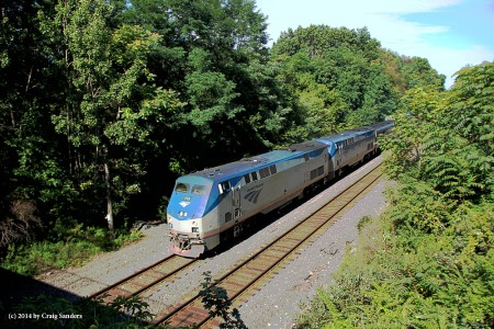 Another view of the eastbound Capitol Limited at Brady Lake, Ohio, on Aug. 29. The train was running 7 hours late.