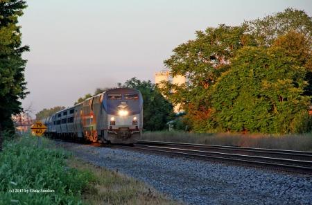 Amtrak at Painesville 2-x