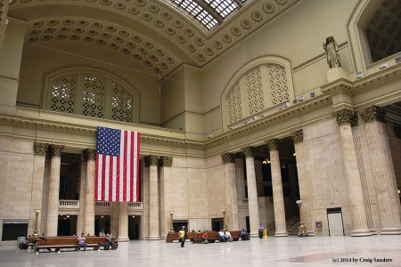 The great hall of Chicago Union Station.