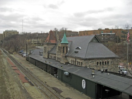 The Michigan Central station in Ann Arbor, Michigan, as it looks today.