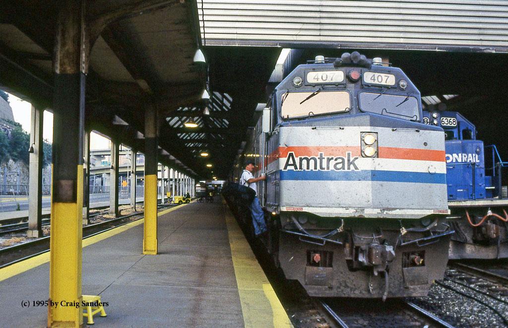 Amtrak BL in ittsburgh September 4, 1995-x