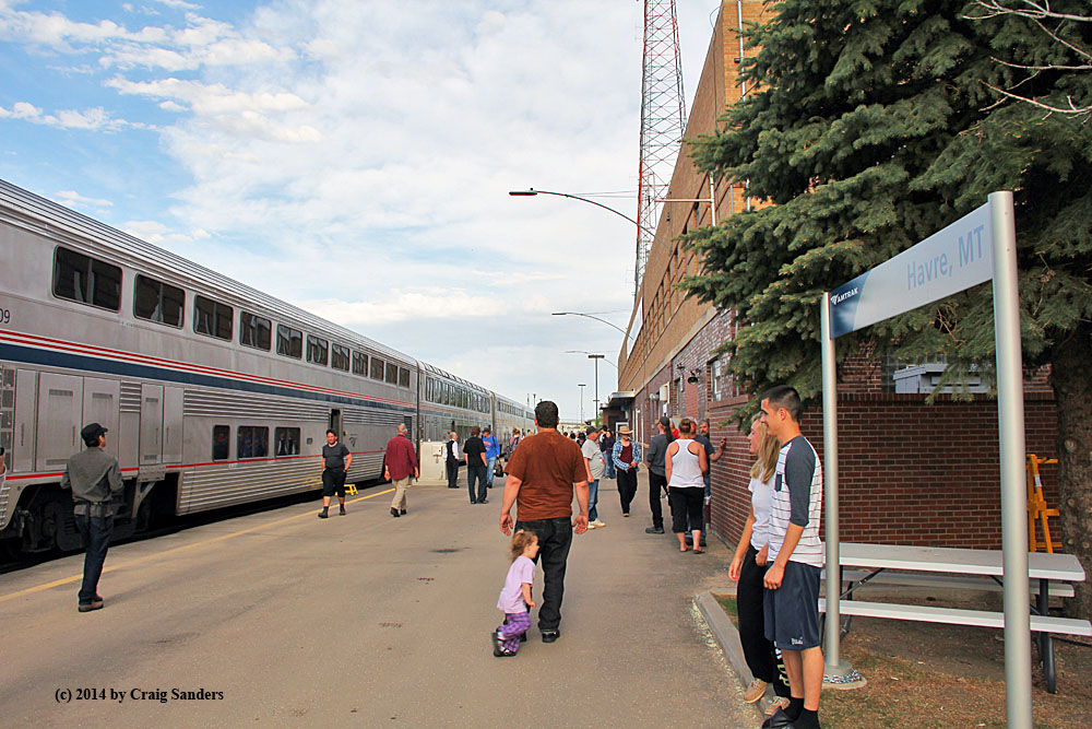 Havre montana amtrak in the heartland havre montana is a service stop for amtraks empire builder and that makes it a good place to get out and stretch your legs on the platform sciox Choice Image