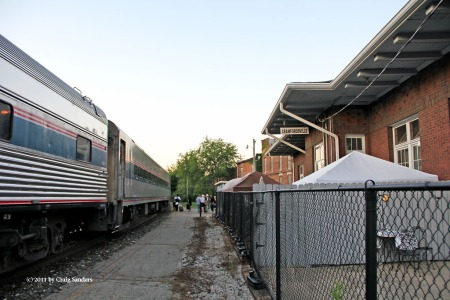 The old Monon station is no longer used by Amtrak.